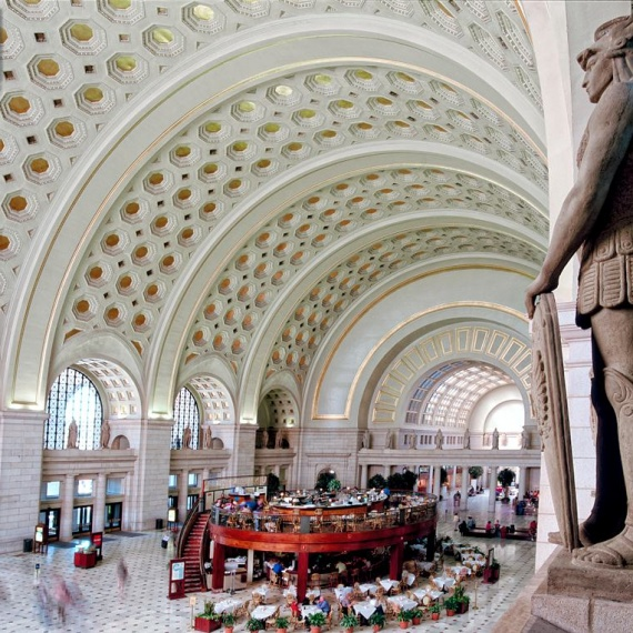 An architectural fine art photo of the interior of Union Station's Main Hall, Washington DC