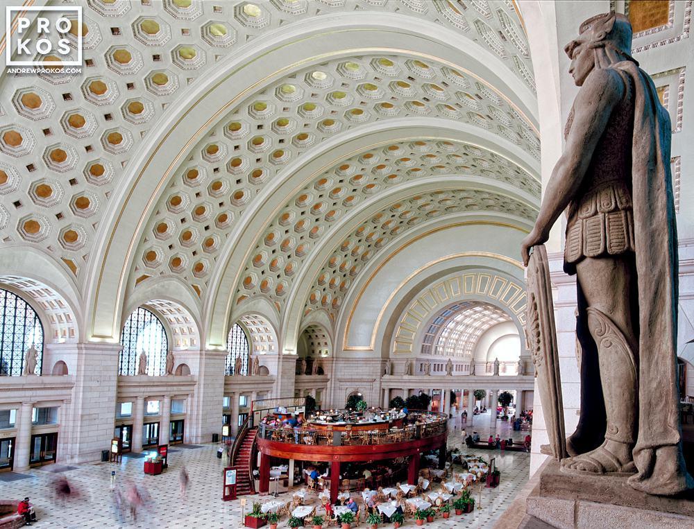 Anarchitectural fine art photo of the interior of Union Station's Main Hall, Washington DC