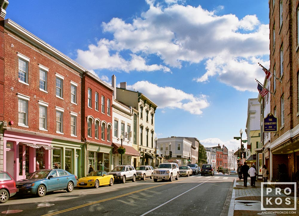 A view of Wisconsin Avenue in Georgetown, Washington DC