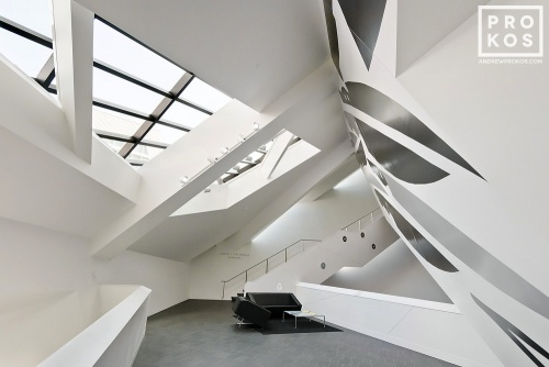 Architectural interior photo of the Denver Art Museum by photographer Andrew Prokos