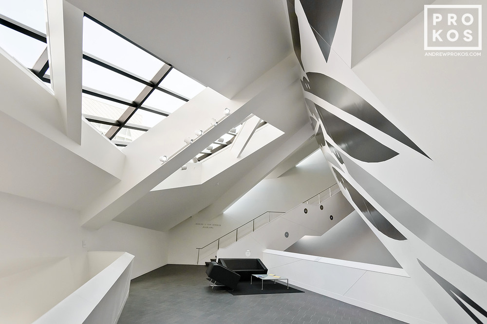 A view of the interior of the Denver Art Museum by Studio Daniel Libeskind and Davis Partnership Architects, Colorado