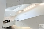 Architectural interior photo of the Denver Art Museum, Colorado