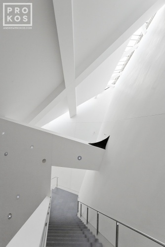 Deconstructionist interior of the Denver Art Museum by Studio Daniel Libeskind and Davis Partnership Architects, Colorado
