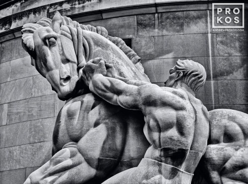 Statue of Man Controlling Trade (depicted as a horse) at the Federal Trade Commission, Washington DC
