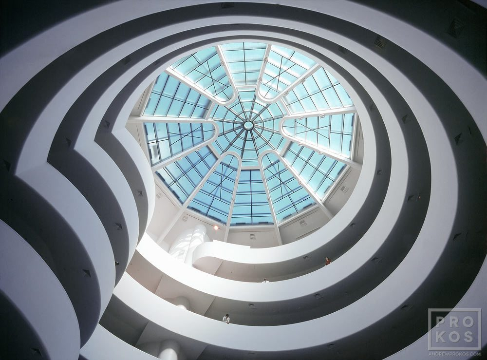 Interior view of the rotunda of the Guggenheim Museum in New York City