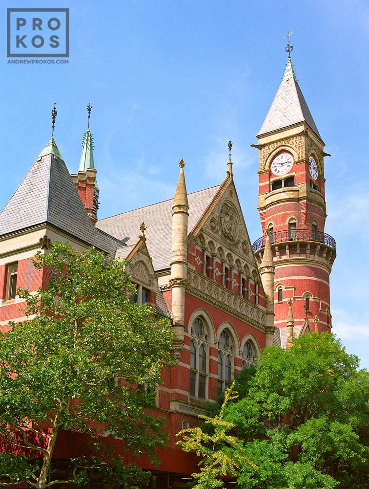 Exterior of Jefferson Market Library in Greenwich Village, New York City