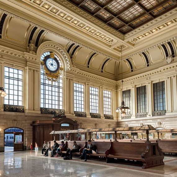 A fine art architectural interior photo of Hoboken Terminal in Hoboken, New Jersey