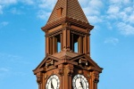 An architectural fine art photo of the clock tower at Hoboken Terminal, New Jersey.