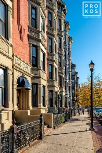 A view of Washington Street in Hoboken, New Jersey
