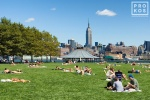 A view of Pier A Park in Hoboken, New Jersey