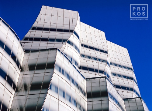 A view of the exterior of the Interactive Corp. (IAC) Building in New York City by architect Frank Gehry