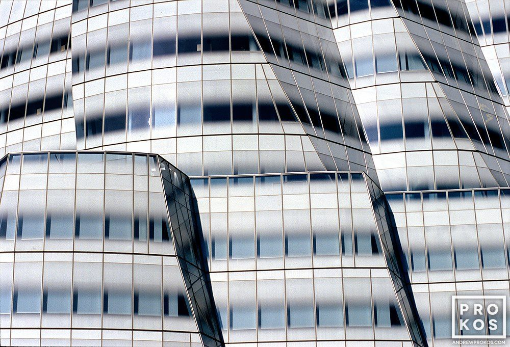 A photo of the exterior of the IAC Building in New York City. Fine art prints of this photo are available framed in various styles.