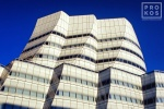 A fine art photo of the exterior of the IAC Building in New York City