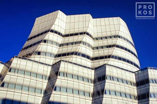 A fine art architectural photo of the exterior of the IAC Building in New York City. High-definition fine art prints of this photo are available framed in various styles.
