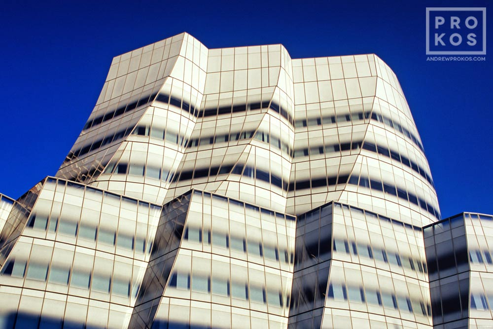 A fine art architectural photo of the exterior of the IAC Building in New York City.