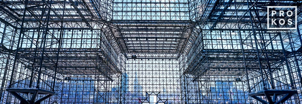 A panoramic view of the interior of Jacob Javits Center, Manhattan, New York City