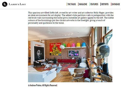 LARRYS LIST SOHO LOFT ARTICLE TH