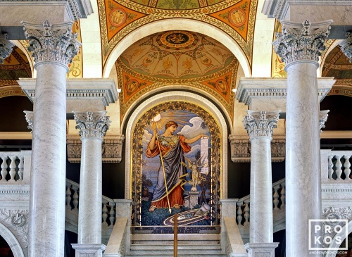 A fine art architectural photo of the decorative mosaic gracing the Great Hall of the Library of Congress, Washington D.C.