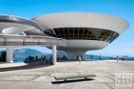 A view of the Museu de Arte Contemporanea, in Niteroi. Uma visão do Museu de Arte Contemporânea, em Niterói.