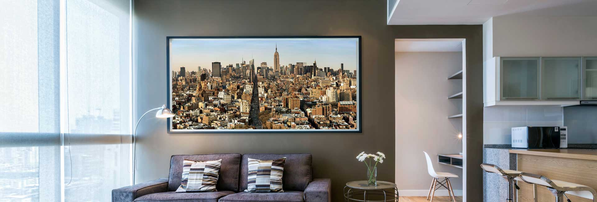 Panoramic cityscape of Manhattan HD photograph – limited edition gallery print – framed large-format photo