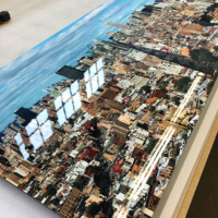 An ultra high-definition metal print of Manhattan as seen from Soho by photographer Andrew Prokos