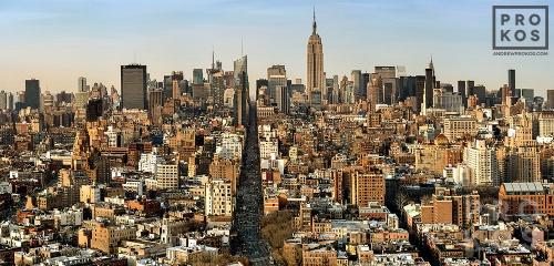 An ultra high-definition panoramic cityscape photo of Midtown Manhattan as seen from Soho, New York City. Gallery quality large-scale prints of this photo are available up to 90 inches wide.