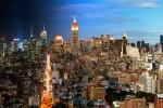 An ultra-high-definition cityscape of Manhattan transitioning from day to night, from Andrew's 'Night & Day' series.