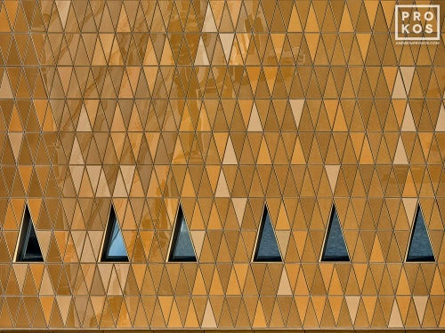 A high-definition architectural detail photo from Masdar City in Abu Dhabi, United Arab Emirates.