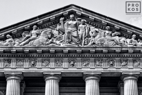 A pediment from the Mellon Auditorium building, Washington DC