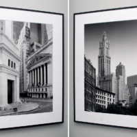 New York iconic landmarks black and white framed prints by photographer Andrew Prokos at Merchant's House, Tribeca