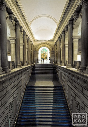 Steps from the Great Hall to the Metropolitan Museum's European Paintings galleries, New York City
