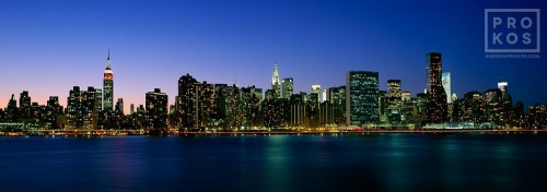 MIDTOWN MANHATTAN PANORAMA LIC DUSK PX