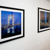 Framed architectural and cityscape photos in the K2 Advisors corporate collection.