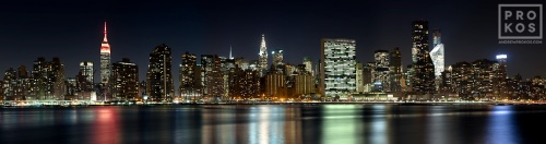 NEW YORK CITY NIGHT PANORAMA  PX