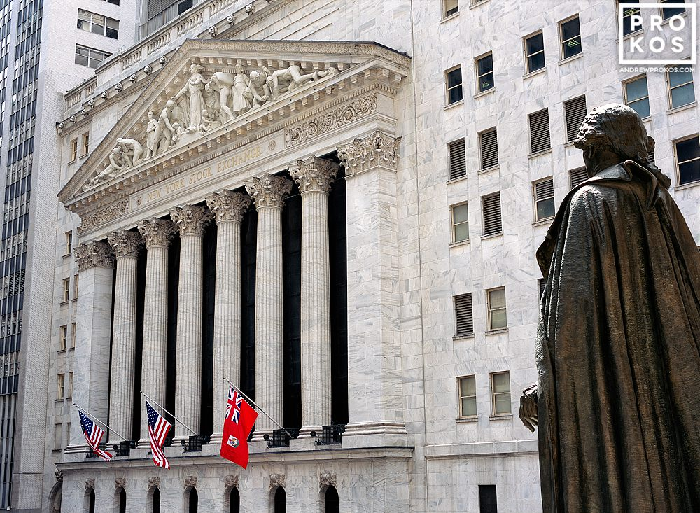 Exterior of the New York Stock Exchange (NYSE) during the day