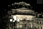 A fine art architectural photo of the Old Executive Office Building at night, Washington D.C.