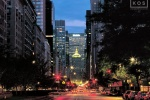 A fine art cityscape photo of Park Avenue at dusk, New York City