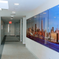 A 20 foot wide gallery-mounted daytime panorama commissioned by Cisco Systems for the company's New York City office