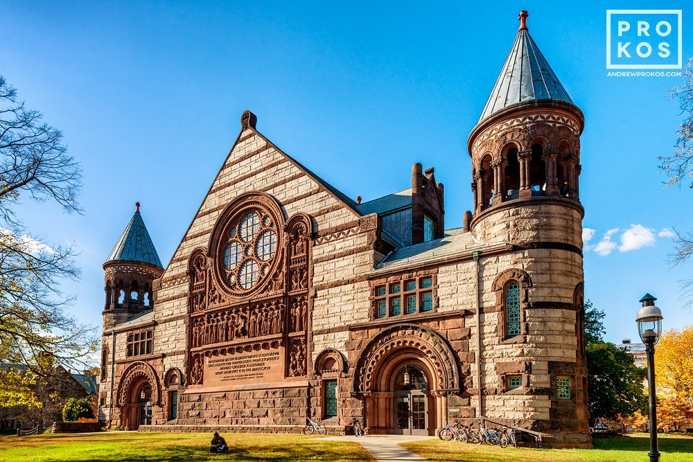 An architectural fine art photo of Alexander Hall, Princeton University in the Autumn, New Jersey