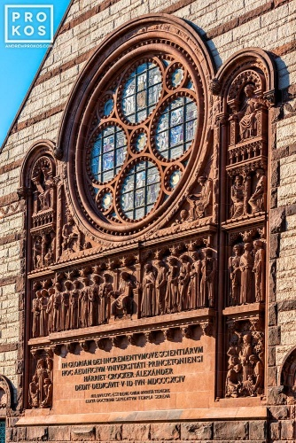 A fine art architectural photo of the the facade of Alexander Hall, Princeton University, New Jersey