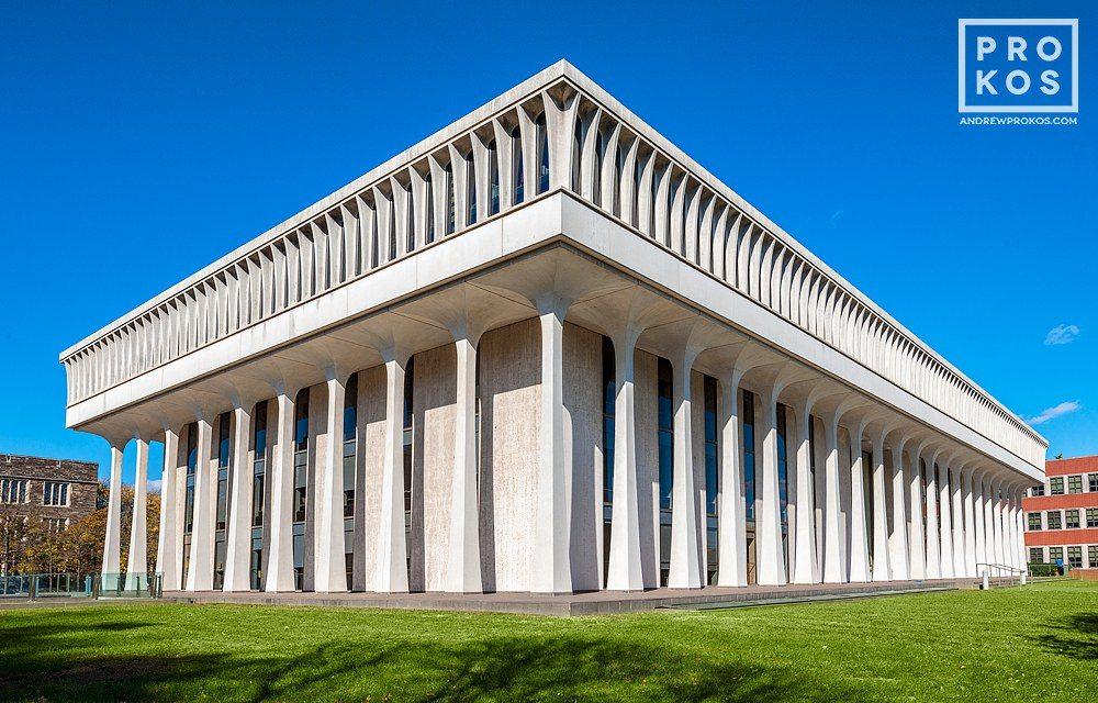 The exterior of Robertson Hall, Woodrow Wilson School, Princeton University, New Jersey