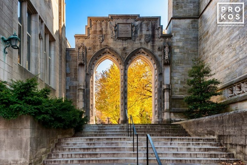A fine art architectural photo of Rothschild Arch on the campus of Princeton University, New Jersey
