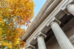 A fine art architectural photo of the exterior of Whig Hall in autumn, Princeton University, New Jersey