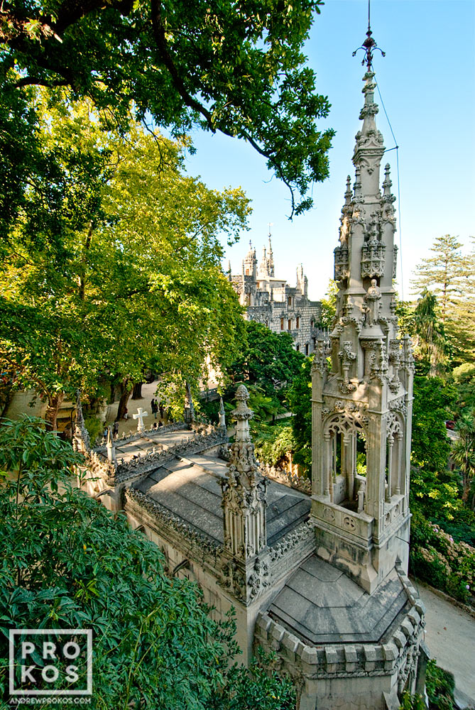 A view of the Quinta da Regaleira chapel, Sintra, Portugal