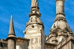 Fine art photo of the ornate chimneys from the Quinta da Regaleira palace, Sintra, Portugal