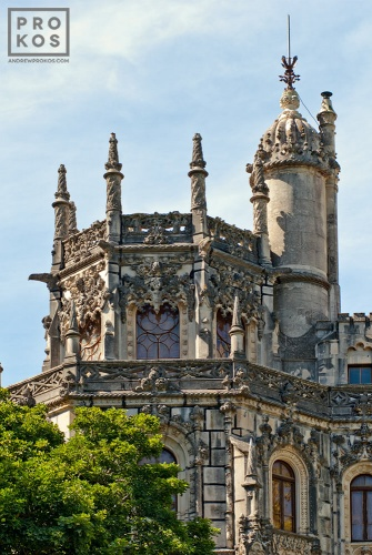 Exterior of the Quinta da Regaleira Palace, Sintra, Portugal
