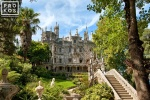 View of the Quinta da Regaleira Palace and Gardens, Sintra, Portugal