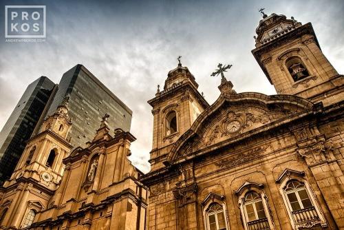A view of the Antiga Catedral da Se, in Rio de Janeiro's Centro Historico. Uma vista da Antiga Catedral da Sé, no Centro Histórico do Rio de Janeiro.