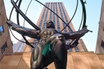 "A photo of Rockefeller Center's famous Atlas statue during the day, New York City. Framed fine art prints of this photo are available in sizes up to 60""."