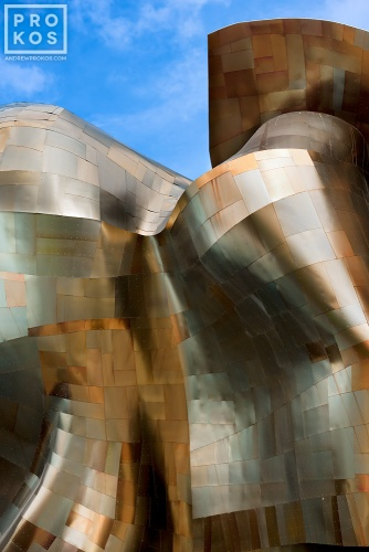 Exterior view of the EMP Museum, Seattle, Washington